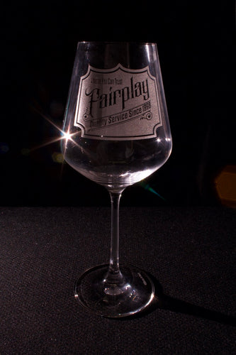 etched customized wine glass