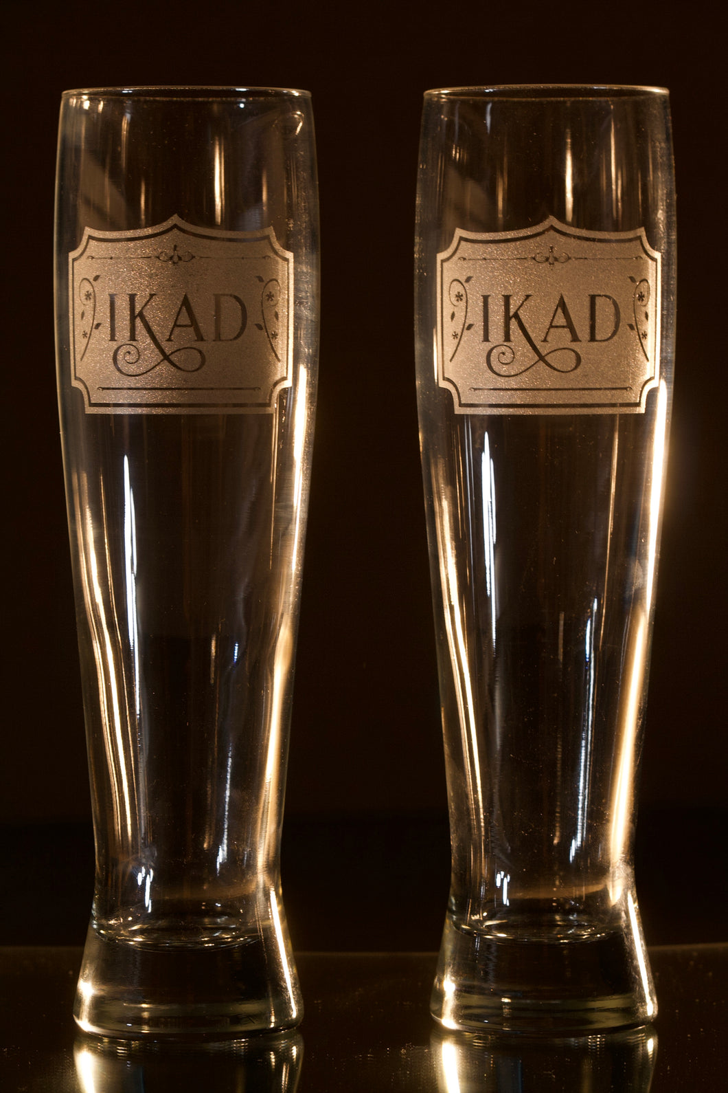 Etched (Customized) Beer Glasses