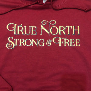 True North printed hoodie logo