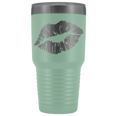Just Lips slanted 30 oz Travel Tumbler | Etched / Engraved Stainless Steel Mug Hot/Cold Cup - 12 Colors Available