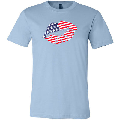 Patriotic Flag Lips Tee