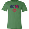 Patriotic Sunglasses & Lips Tee