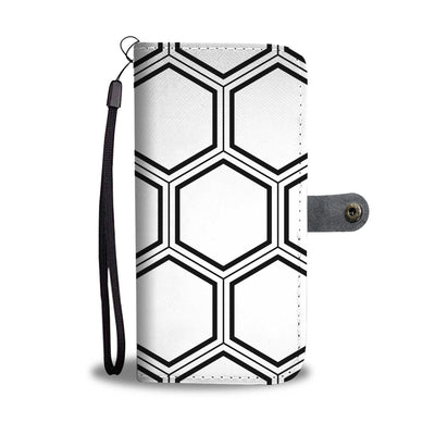 Modern HoneyComb Cell Phone Wallet Case