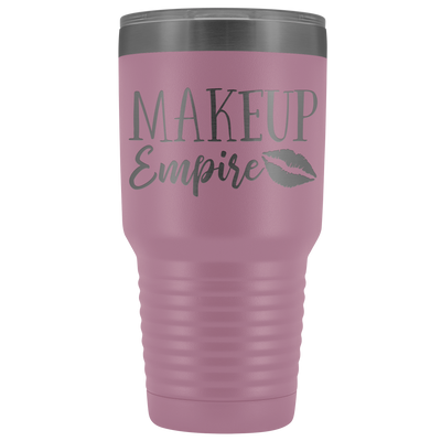 Makeup Empire 30 oz Travel Tumbler | Etched / Engraved Stainless Steel Mug Hot/Cold Cup - 12 Colors Available