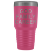 God Family Career 30 oz Travel Tumbler | Etched / Engraved Stainless Steel Mug Hot/Cold Cup - 12 Colors Available