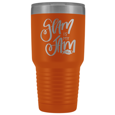 Glam is my Jam 30 oz Travel Tumbler | Etched / Engraved Stainless Steel Mug Hot/Cold Cup - 12 Colors Available