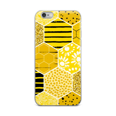 Gold Glitter Honeycomb iPhone Case