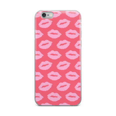 Pink Lips on Pink iPhone Case