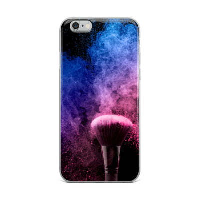 Pink Blush Makeup Brush iPhone Case