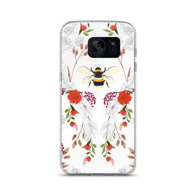 Bumble Bee Floral Samsung Phone Case
