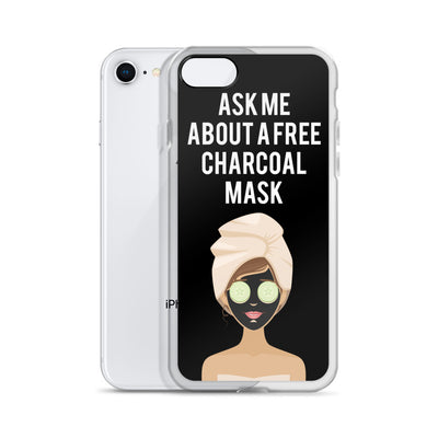 Ask me about a Free Charcoal Mask iPhone Case