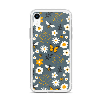 Bee Butterfly Daisy iPhone Case