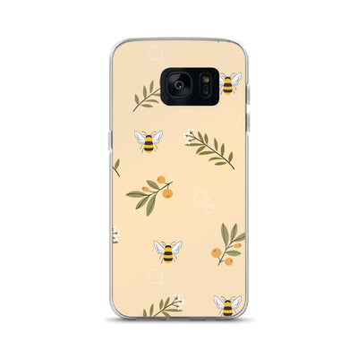 Bee's and Flowers Samsung Phone Case