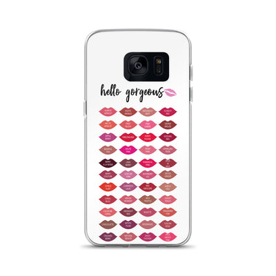 Hello Gorgeous Mary Kay Lipstick Color Chart Lips Samsung Phone Case