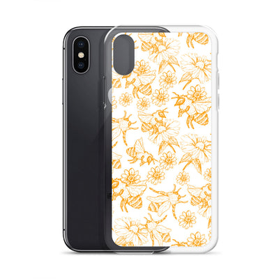 Bumble Bee Gold Pattern iPhone Case