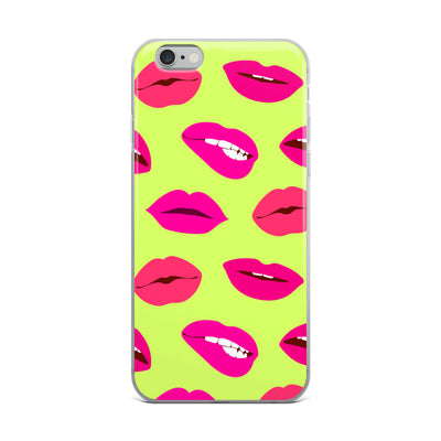 Neon Bold Lips iPhone Case