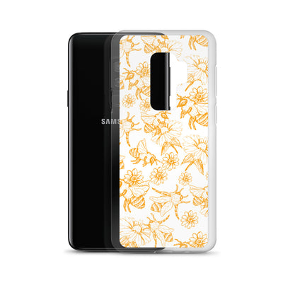 Bumble Bee Gold Pattern Samsung Phone Case