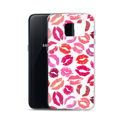 Shades of Pink Lipstick Lips Kisses Samsung Case