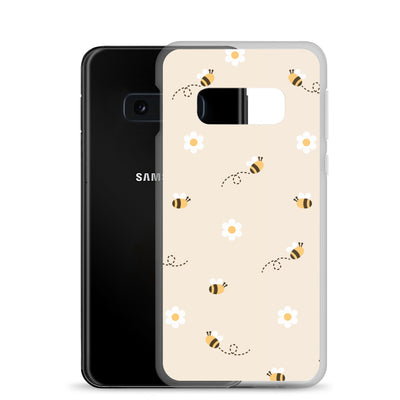 Bumble Bee Daisy Samsung Phone Case