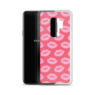 Pink Lips on Pink Samsung Phone Case