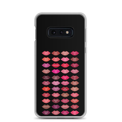 Mary Kay Lipstick Color Chart Lips Kisses on Black Samsung Phone Case