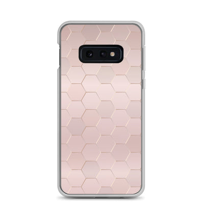 Pink Metallic Honeycomb Samsung Case