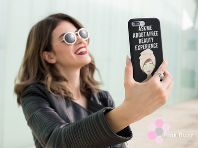 Ask me about a Free Beauty Experience iPhone Case