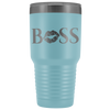 Boss Lips 30 oz Travel Tumbler | Etched / Engraved Stainless Steel Mug Hot/Cold Cup - 12 Colors Available