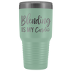 Blending is my Cardio 30 oz Travel Tumbler | Etched / Engraved Stainless Steel Mug Hot/Cold Cup - 12 Colors Available