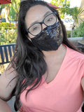 Black Sequined Fashion Face Mask - with Shipping in U.S.