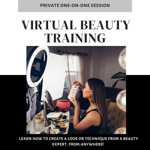 IG LIVE PROMO - Virtual Beauty Training :: Hands-On Learning - YOUR PRODUCTS & YOUR CHOICE TOPIC