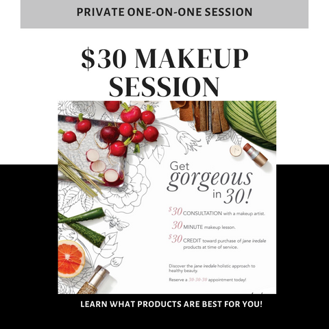 30-Minute Personalized Makeup Showcase for $30, Redeemable in product (Virtual & In Studio)