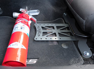 Blackbird Fabworx Fire Extinguisher Bracket - ND Miata (16-up) / Fiat 124 Spider (17-up)