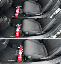 Load image into Gallery viewer, Blackbird Fabworx Fire Extinguisher Bracket - ND Miata (16-up) / Fiat 124 Spider (17-up)