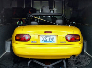 Blackbird Fabworx NA Single Diagonal Roll Bar - 90-97 NA Miata