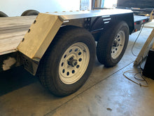 Load image into Gallery viewer, Drive Over Trailer Fender Kit Heavy Duty Bare Steel DIY Weld On