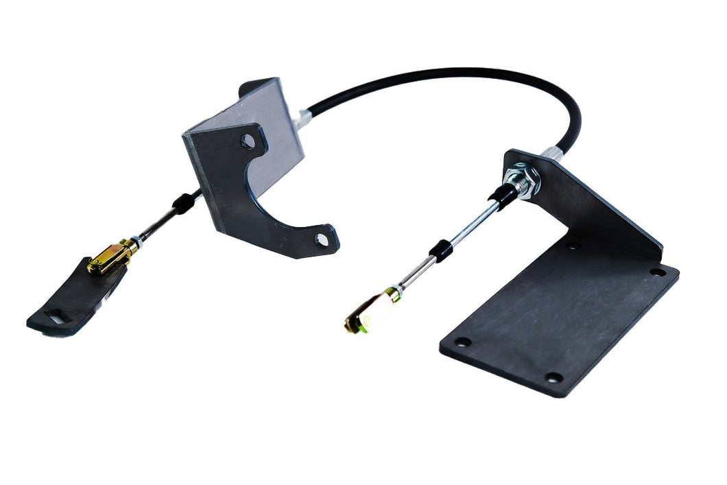 Jeep TJ Cable Shifter Kit For 97-06 Wrangler TJ Bare Steel Gatekeeper Off Road