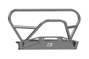 Jeep TJ Front Bumper With Grill Hoop and Stinger For 96-06 Wrangler TJ Bare Steel