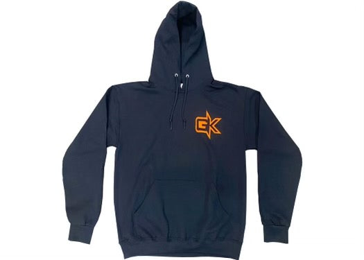 Gatekeeper Off-Road Pull Over Logo Hoodie Sweatshirt Black and Orange