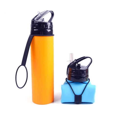 Foldable Water Bottle - Silicone - 610ml