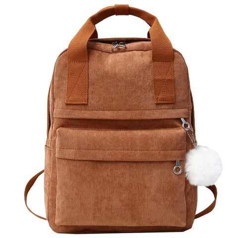 women's backpack small corduroy
