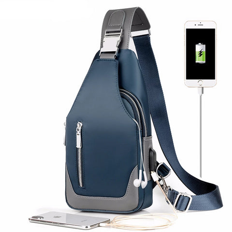 Crossbody Bag waterproof with USB Charger