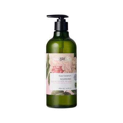 Ausganica Rose Geranium Nourishing Hand & Body Wash (500ml)