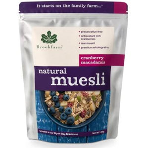 Brookfarm Natural Macadamia Muesli with Cranberry (500g)