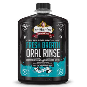My Magic Mud Classic Mint Charcoal Fresh Breath Oral Rinse, Alcohol- Free