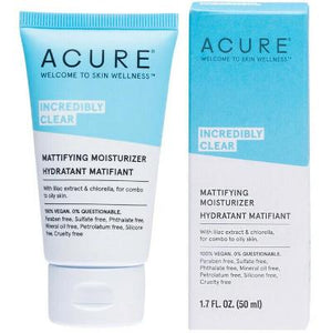 Acure Incredibly Clear Mattifying Moisturiser (50ml)