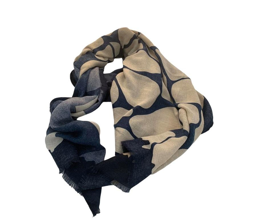 4 Raw Edge Scarf - Cobblestones