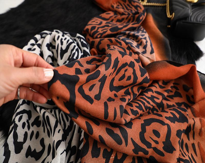 4 Raw Edge Scarf - Luxurious Leopard