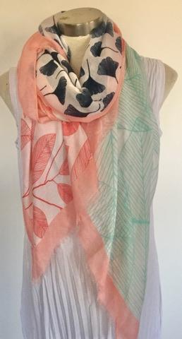 4 Raw Edge Scarf - Summer Splice