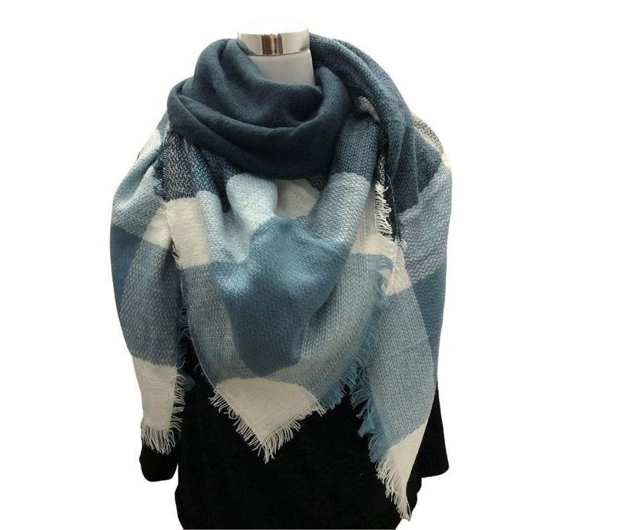 Winter Scarves - Winter Check Square Scarf